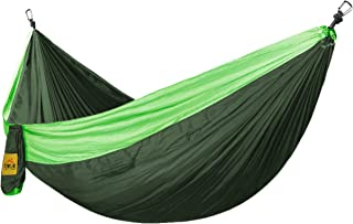 Hamac Camping Extérieur Balançoires Loisirs Anti - Renversement 300*200 Vert + Vert