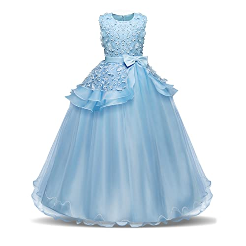 NNJXD Girls Pageant Princess Dresses Party Prom Gown for 5-14 Years