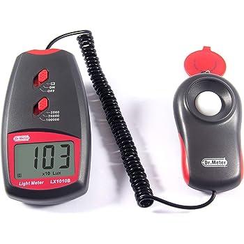 Dr.meter LX1010B Digital Illuminance/Light Meter, 0-100,000 Lux Luxmeter