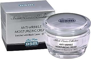 皺取りしっとり湿潤クリーム 黒キャビア SPF15 死海ミネラル50mL Mon Platin 全皮膚タイプ ミネラル お顔 (Anti-Wrinkle Moisturizing Cream with Black Caviar SPF 15)