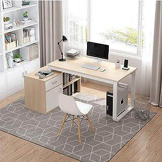 XLO L-Forme Bureau d'angle, Bureau Moderne Informatique Étude écriture Poste de Travail, Table PC avec tablettes de Rangem...