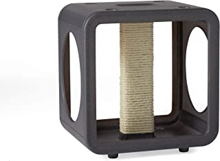 Kitty Kasas Stackable Modern Cat House, Gym Cube with Scratching Post, Granite Gray