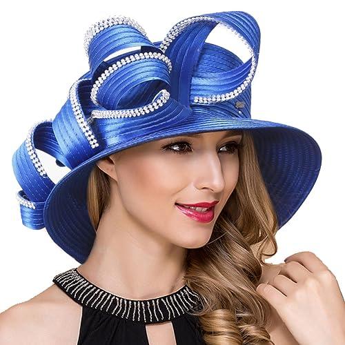 Lady Church Derby Dress Cloche Hat Fascinator Floral Tea Party Wedding  Bucket Hat S051 5519f7b82fe