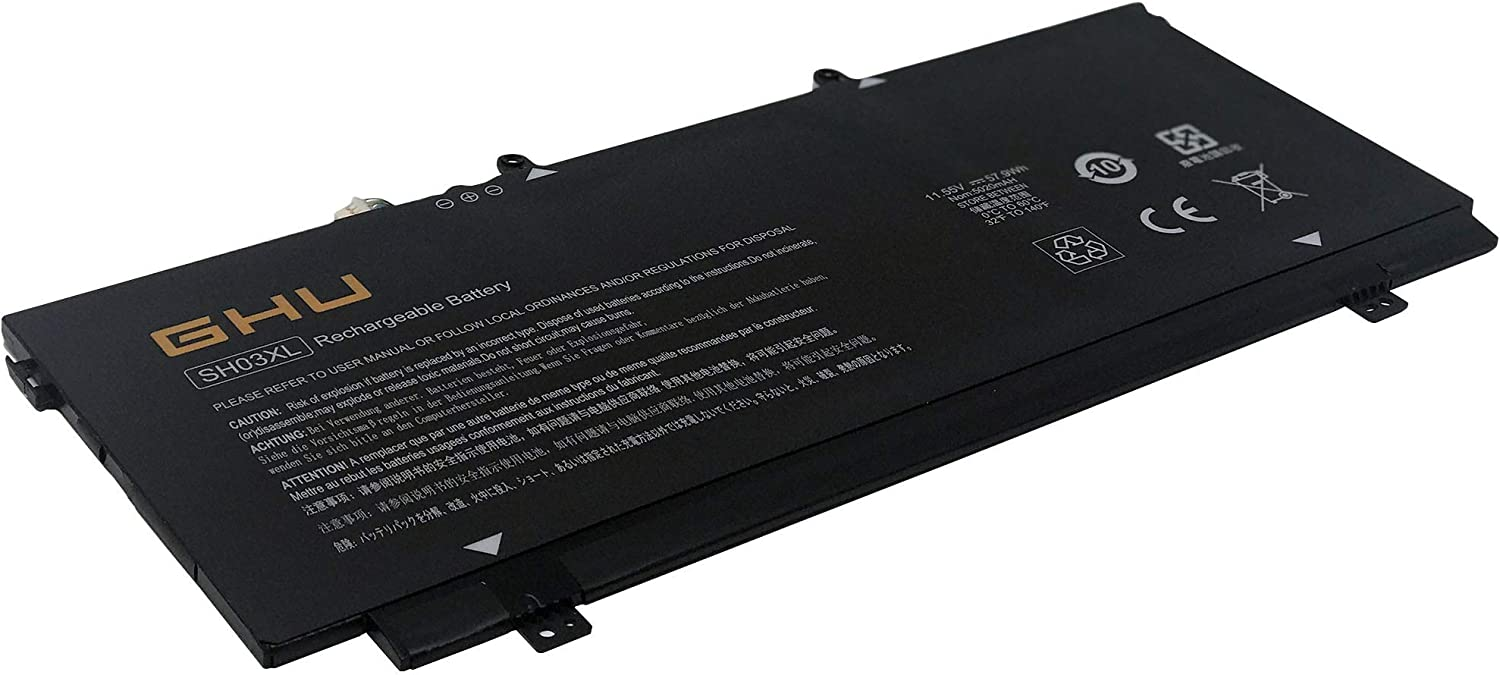 New Max 87% OFF GHU SH03XL Laptop Battery Super sale Compatible X360 13 with HP Spectre