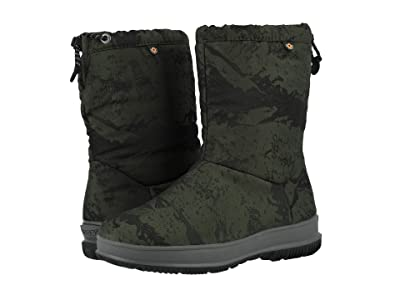 Bogs Snowday Mid Mountain (Dark Green) Women