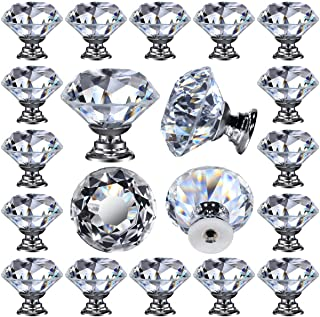 Best 26 pcs Glass Cabinet Knobs Crystal Drawer Pulls Clear 30 mm Diamond for Kitchen, Bathroom Cabinet, Dresser and Cupboard by DeElf Review