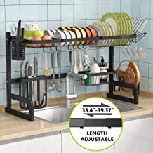 Over the Sink Dish Drying Rack - 1Easylife Adjustable 2-Tier Large Dish Dryer Rack for Kitchen Organizer Storage Space Sav...
