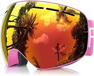 46f43f9be1 Gafas de Esquí Niños, eDriveTech Máscara Gafas Esqui Snowboard Nieve Espejo para  Niño Niña Júnior Chicos Chicas 3 4 5 6 7 8 9 10 11 12 13 14 15 Años Anti ...