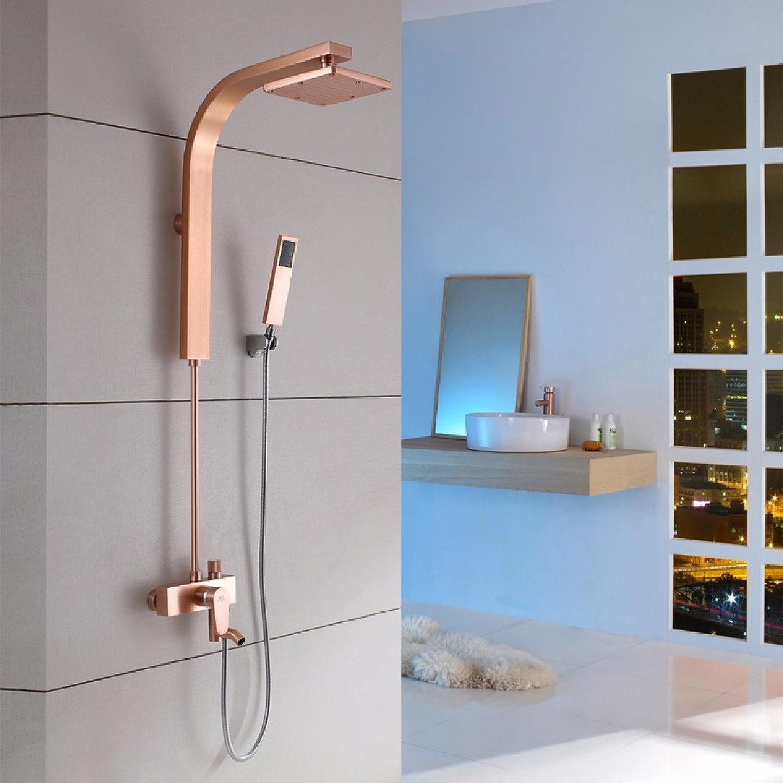 YFF@ILU Farbe dusche Anzüge, Einstellung des schwarzen Goldes raum Aluminium Persnlichkeit kreative Kpfe Dusche, Dusche, e