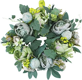 Artificial Peony Flower Wreath, 15.7