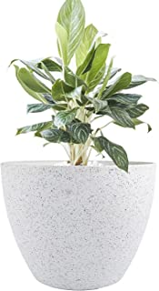 LA JOLIE MUSE Large Planter Pot Indoor Outdoor - 14.2 Inch Tree Planter Flower Pot, Planters Container with Drain Holes (S...