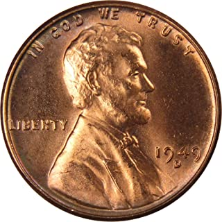 1949 D 1c Lincoln Wheat Cent Penny US Coin Uncirculated Mint State