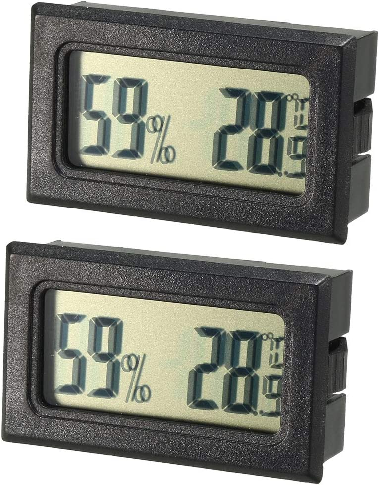 uxcell Mini Digital Rapid rise Temperature Humidity Meters The Year-end annual account Indoor Gauge