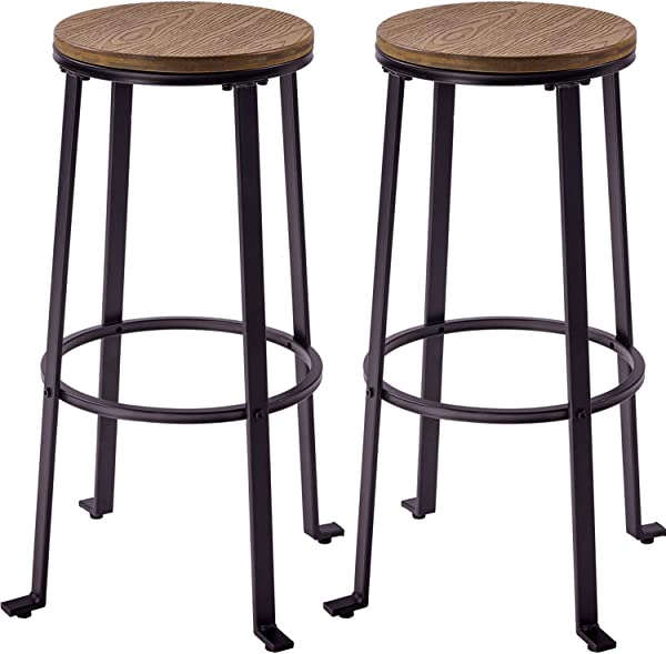 Harper Bright Designs Bar Stools Dining Room Chairs Bar Height 30 Light Brown Stools Set Of 2