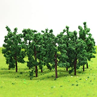 D5020 50PCS Model Trees-50mm/1.96 inch Z HO Scale Train Layout Iron Wire Trees,Diorama Supplies, Railroad Scenery, Fake Trees for Projects, Woodland Scenery for DIY Crafts or Building Model New