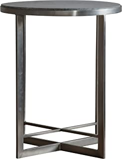 Frank Hudson Necton Side Table, Silver, 460 x 460 x 560mm