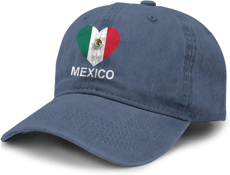 Love Mexico Adult Curved Brim Baseball Hat Sports Cowboy Cap