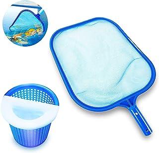 AIDERLY Swimming Pool Cleaner Supplies, Swimming Pool Leaf Skimme Net, Pool Leaf Rake Fine Mesh Frame Net & 10-Pack of Poo...