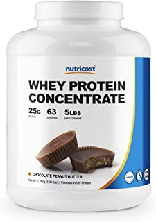 Nutricost Whey Protein Concentrate (Chocolate Peanut Butter) 5LBS - Gluten Free & Non-GMO