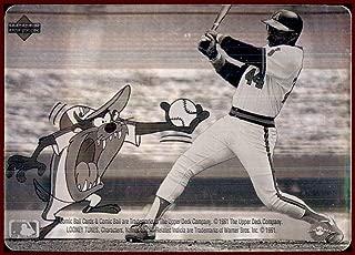 Reggie Jackson HOF 1991 Upper Deck Comic Ball Looney Tunes TASMANIAN DEVIL HOLOGRAM CALIFORNIA ANGELS