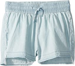 Alice Chambray Shorts with Drawstring Closure in Bleach (Toddler/Little Kids)