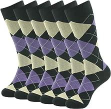 Mens Fashion socks, SUTTOS Men's Women's Elite Casual Fun Patterned Mid Calf Crew Dress Socks,6 Pairs