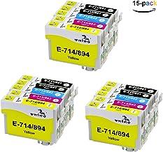 ONINO Cartuchos de Tinta T0711 T0712 T0713 T0714 T0715 Compatible para SX110 SX115 SX200 SX205 SX209 SX210 SX410 SX415 SX510W SX515W SX600FW SX610FW D78 D92 D120 DX400 DX4000 DX4050 DX4400