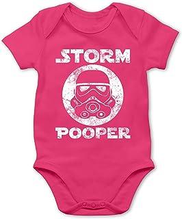 Shirtracer Sprüche Baby - Storm Pooper Vintage - Baby Body Kurzarm für Jungen und Mädchen