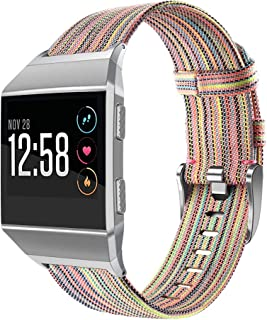 OenFoto Sport Bands Compatible Fitbit Ionic, Adjustable Nylon Wristband Replacement Watch Band Strap Accessory Bracelet for Fitbit Ionic Smart Watch, Large Small