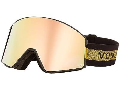 VonZipper Capsule Goggle (Halldor Black Gloss/Wild Gold Chrome Lens) Goggles