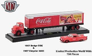 M2 Machines Limited Edition Chase Vehicle Set 1957 Dodge COE & 1957 Chrysler 300C Auto-Haulers Coca-Cola Release 2 Castline 2018 Premium Edition 1:64 Scale Die-Cast Vehicle Set (1 of only 750)