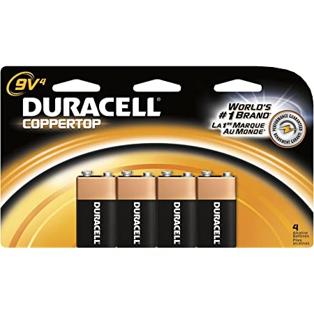 Duracell Coppertop 9-Volt Batteries Pack of 2 4-Count