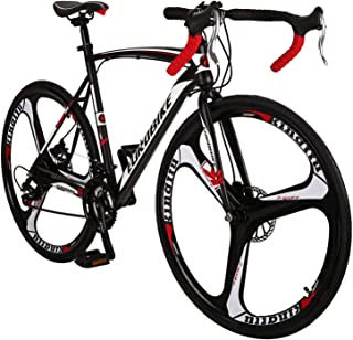 Eurobike OBK XC550 Road Bike 700C Wheels 21 Speed Disc Brake Mens or Womens Bicycle Cycling