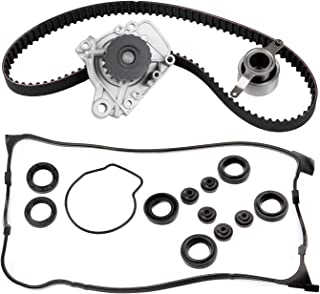ECCPP New Timing Belt Water Pump Valve Cover Gasket Kit Fit 1996-2000 Honda Civic EX SI CX DX LX HX 1.6L L4 SOHC D16Y5 D16Y7 D16Y8 D16B5 VTEC