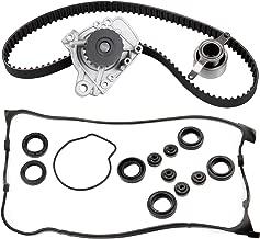 ECCPP New Timing Belt Water Pump Valve Cover Gasket Kit Fit 1996-2000 Honda Civic EX SI CX DX LX HX 1.6L L4 SOHC D16Y5 D16Y7 D16Y8 D16B5 VTEC