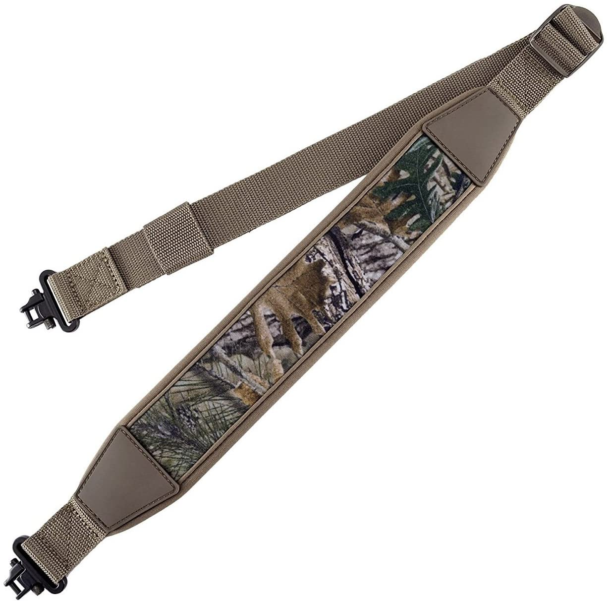 BOOSTEADY Two Point Rifle Gun Sling with Swivels,Durable Shoulder Padded Strap,Length Adjuster : Sports & Outdoors