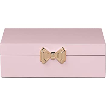 Ted Baker - Joyero lacado a mano, tamaño mediano, color blanco y dorado rosa: Amazon.es: Belleza