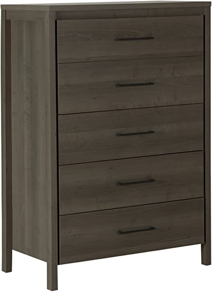 South Shore Gravity 5 Drawer Chest Gray Maple