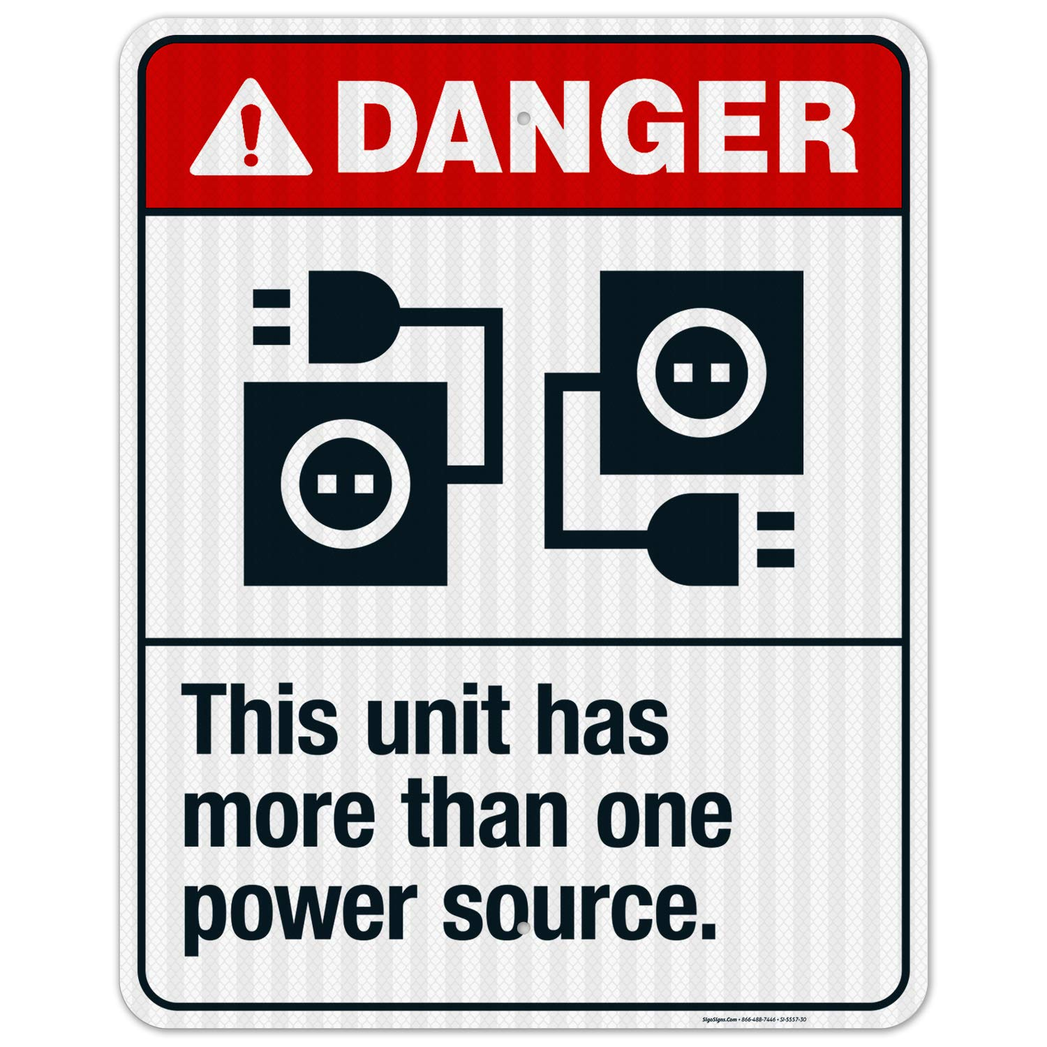 This Unit Has More Than One Danger Source Financial sales sale Sign ANSI Shipping included Power