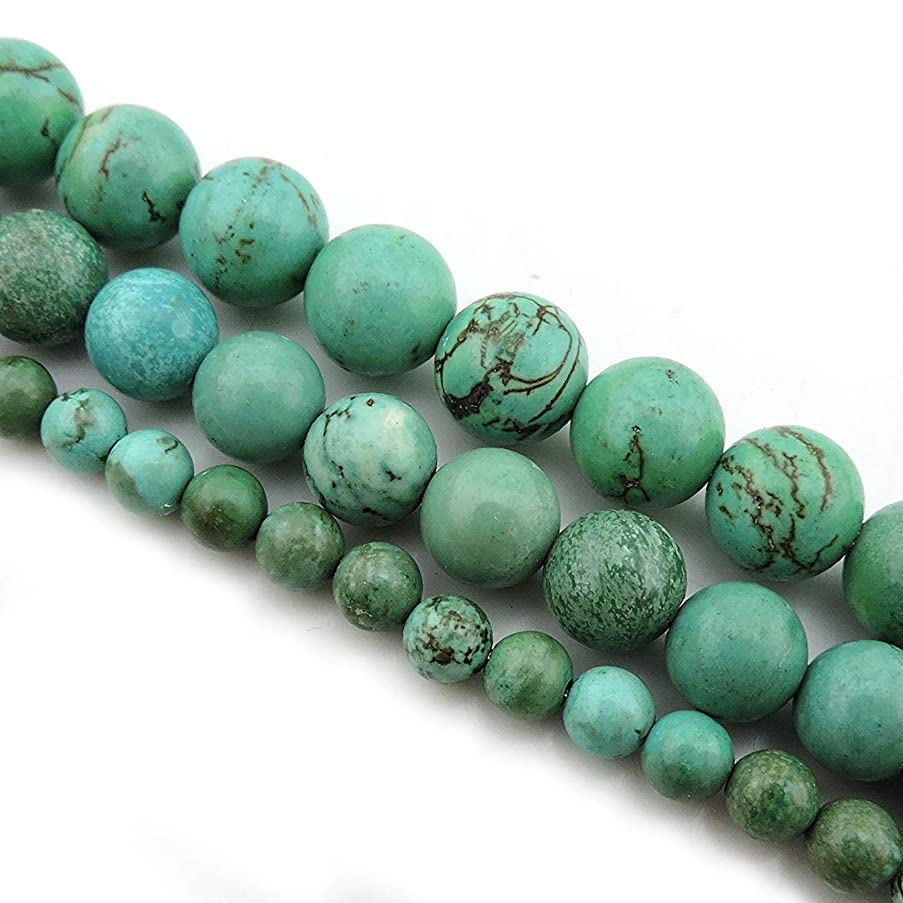 COIRIS 15'' Strand 4mm Natural Turquoise Gemstone Round Smooth Loose Beads For Jewelry Making (ZS1124-4)