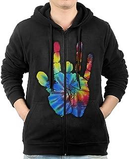 Mens Grateful Dead Jerry Hand Full-Zip Hoodie Sweatshirt
