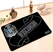 Non-Slip Doormat Non-woven Fabric Floor Mat Indoor Entrance Rug Decor Mat 23.6 W X 15.7 W Inches seamless pattern hand drawn set music symbols doodle treble clef bass clef notes lyre black sketch styl