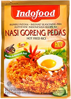 Nasi Goreng Pedas by Indofood - Hot fried rice - Authentic product of Indonesia - 6 x 1.5 oz (6 x 45 g)