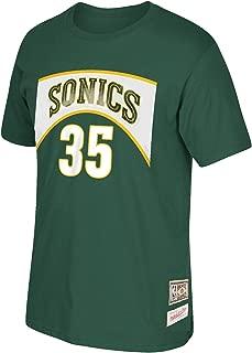 Kevin Durant Seattle Supersonics #35 NBA Men's Hardwood Classics Name & Number T-Shirt Green