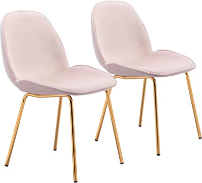 Zuo Siena Dining Chair, Rose Pink