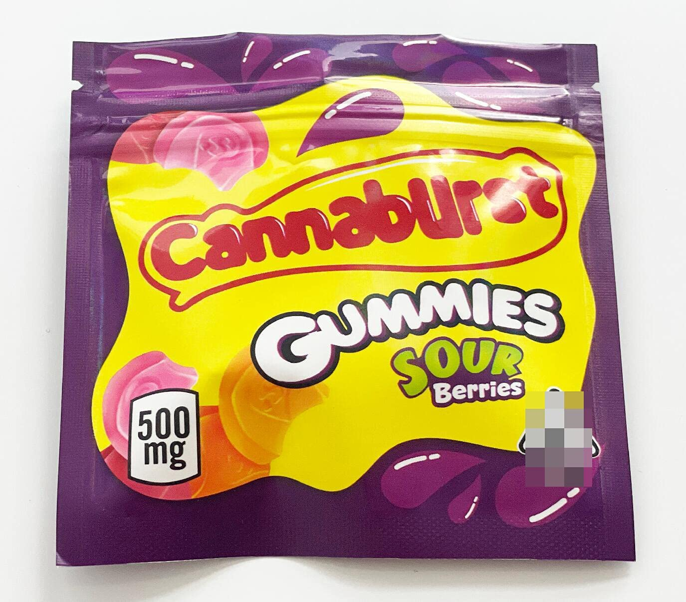 105 PCS Gummies Sour Berries Limited time for free shipping Cannaburst Edibl Popular standard 4×4 500mg In Candy