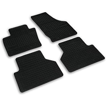 Frogum 0733 Gummimatten Auto Fußmatten Gummi Passgenau 4 Teiliges Automatten Set Schwarz Auto