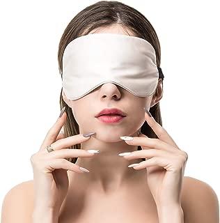 COLD POSH 16mm Silk Sleep Mask,Soft Eye Mask with Adjustable Strap,Eye Cover for Sleeping,Travel,Work,Meditation,Night Blindfold Eyeshade,Gray M