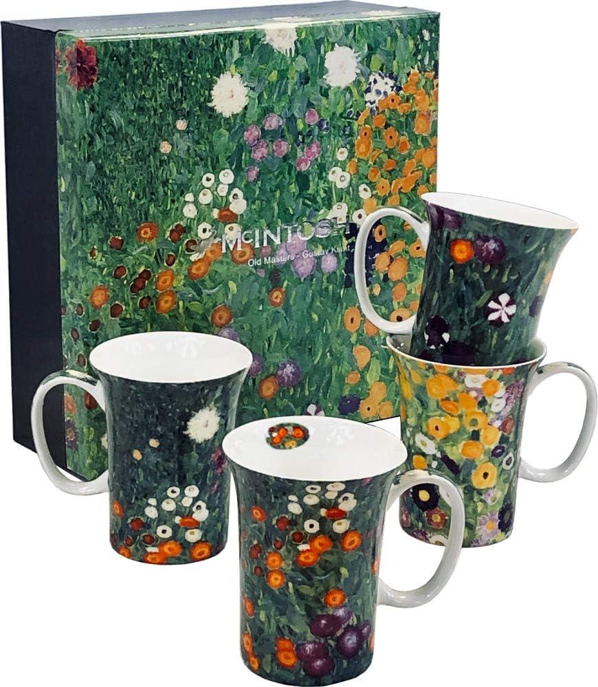 Gustav Klimt Recommended Flower Selling Garden Set of Mugs 4