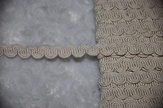 1 Yard Cream Tan Natural Woven Cotton Twine Swirl RIC Rac Sewing Assorted Pattern Ribbon Lace Trim 3/8